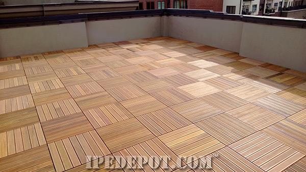 ... Ipe Deck Tiles ...