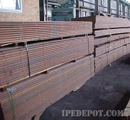 clear Ipe Decking wood