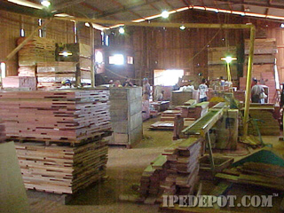 Ipe flooring milled in Brazil