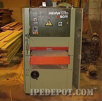 SCMI sander for ipe lumber