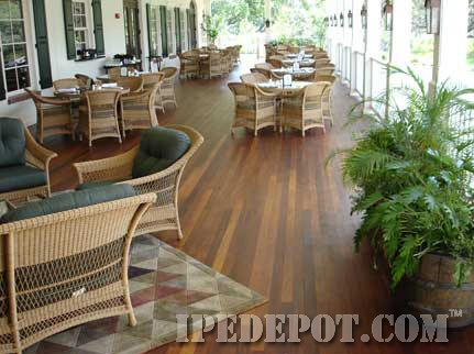 Brazilian walnut decking