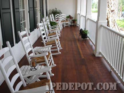 Ipe porch decking