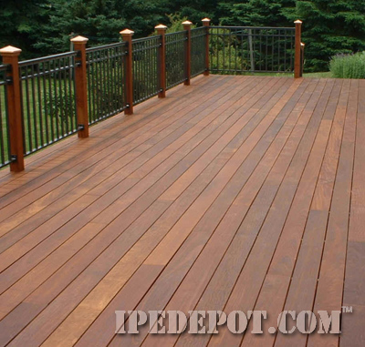 ipe deck installed with ipe clip fasteners
